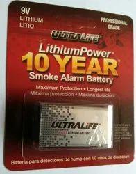9V Ultralife Lithium Battery