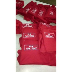 Red Cotton Promotional T Shirt Printing Service, Size: S-XL