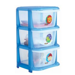 3-Drawers Plastic Cart