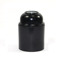 E27 Black Bakelite Plain Skirt Lamp Holder With 1/8ips Threaded