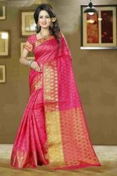 Pink Balatan Silk Casual Wear Saree