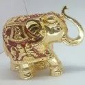 4 Inch Gold Plated Elephant Statue