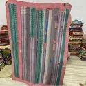 Pink Border Vintage Kantha Quilt