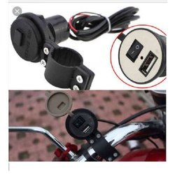Black 2.5m Bike Mobile Charger, Packaging Type: Box