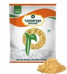 Parampara Organic Bengal Gram Flour (Chana-Atta), 500 G, Packaging Type: Pouch