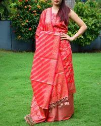 Benarasi Jamdani Brocade Suit in Silk-Cotton