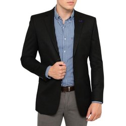 Black Plain Mens Full Sleeves Coat, Size: XL