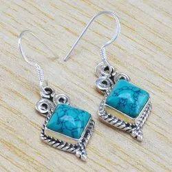 Turquoise Gemstone 925 Sterling Wholesale Silver Jewellery Earring