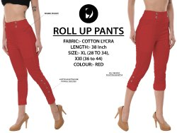Red Rollup Pants