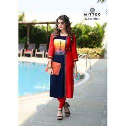 Mittoo Ladies Printed Straight Kurti, Size: S to XXL