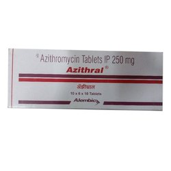 Azithral Tablet Azithromycin IP 250 mg Tablets, Packaging Type: Box