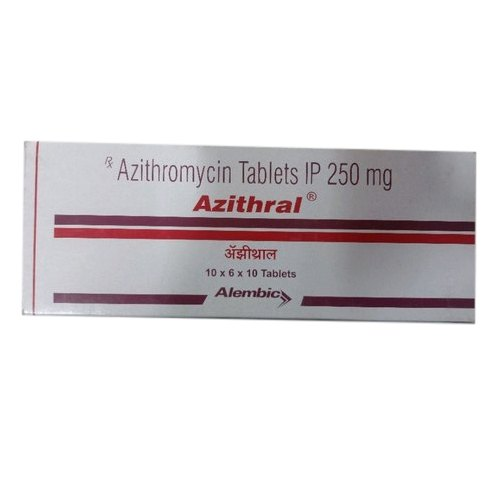Azithral Tablet Azithromycin IP 250 mg Tablets, Packaging Type: Box, Rs 200  /packet   ID: 20836956988