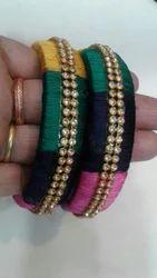 Silk Thread Multicolour Bangles