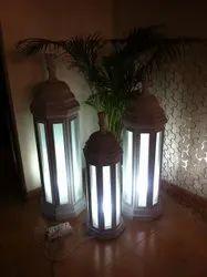 Natural Stone Handmade Designer Lamps, For Decoration