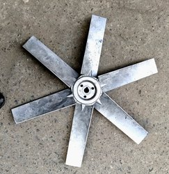 kabira electrotech Aluminum industrial axail fan blade, Number Of Blades: 6, Blade Size: 600 Mm