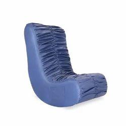 Blue Designer Single Seater Sofa