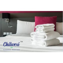 Chilweri Cotton White Stripe Bedsheets
