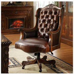 Wooden Brown Revolving Chair