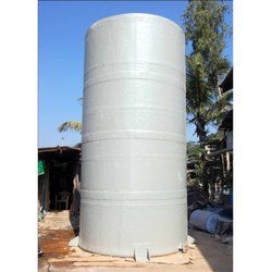 Vertical FRP Chemical Storage Tank