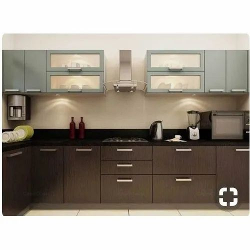 Particle Board L Shape Plain Modular Kitchen Cabinet  sc 1 st  IndiaMART & Particle Board L Shape Plain Modular Kitchen Cabinet Rs 50000 /unit ...