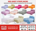 Bed Sheet Micro Stripe Single Bed Size