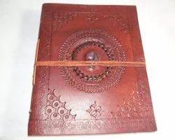 Mandala Binding Stone Leather Journal