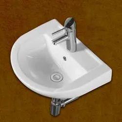Wall Mounted White Ceramic Bathroom Sink