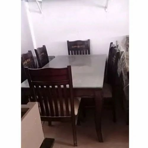 Dark Brown Wooden Dining Table Set Rs 35000 Set Mohini Furniture Id 22100904773