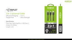 oriamo Three Handle oraimo 3 in 1, Size: 1.2m