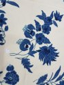Lucky Blue Floral Hand Embroidered Running Curtain Fabric