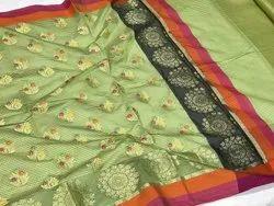 Pure Banarasi Cotton Patola Saree With Blouse Piece