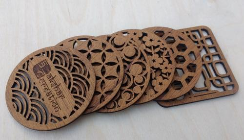 Akshar Natural Wooden Tea Coaster Rs 25 Piece Akshar Creation Id 15853764333