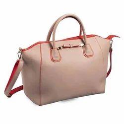 Synthetic Leather Plain Ladies Stylish Handbag