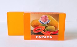 Transparent Papaya Glycerin Soap