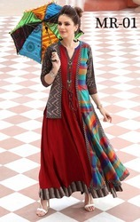 Designer Chanderi Cotton Selfie Kurti