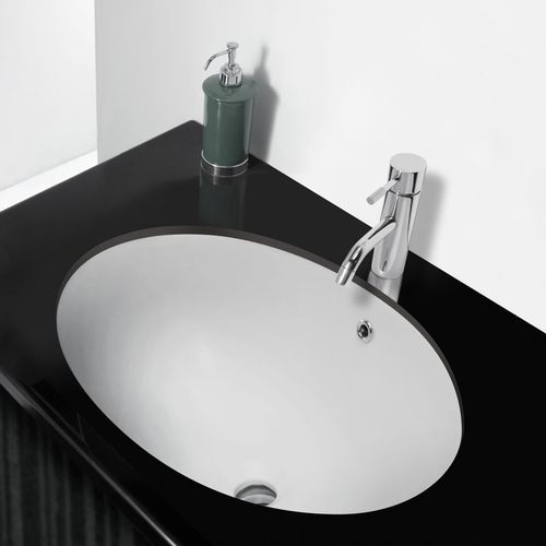 white oval shaped wash basin shape oval - Wash Basin Sink