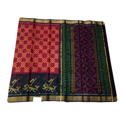 Pochampally Silk Saree, 5.5 M (separate Blouse Piece)