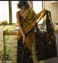 Wax Batik Soft Cotton Mulmul Saree