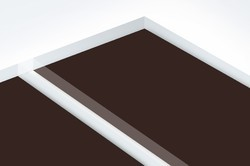 Brown Scratch Proof High Gloss Acrylic Laminated Board