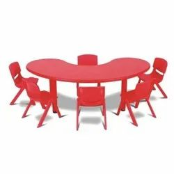 Red Front Round Table