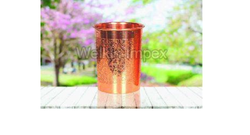Copper Embossed Water Glasses