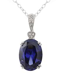 Sapphire Diamond Studded Pendant