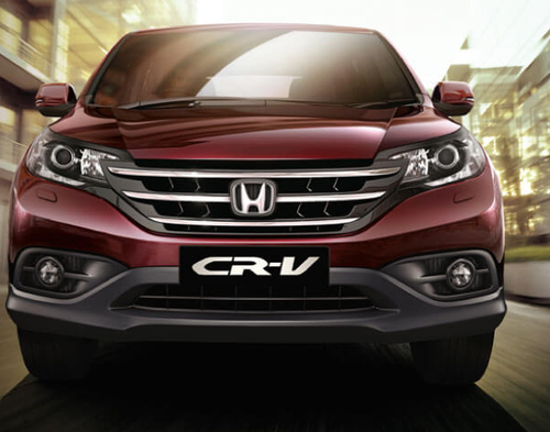 Red CR V Honda Car