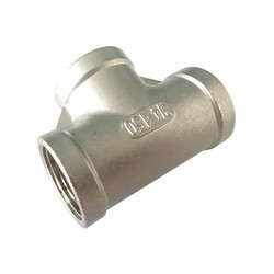 Stainless Steel Threaded Equal Tee