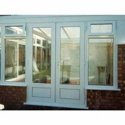 Clear Glass Lever Handle UPVC Combination Door