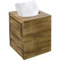 Natural DNU Wooden Tissue Paper Holder, Size: Medium