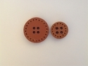 Brown Ps Daima Leather Buttons & Toggles