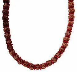Kesar Zems Wooden 54-Bead Panch Mukhi Rudraksh Mala (15 cm x 35 cm x 2 cm, Brown)