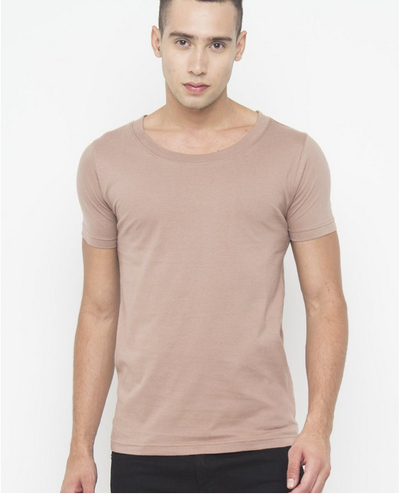 292b984c Cotton Large Men Muscle Fit Scoop Neck T Shirt In Brown, Rs 399 ...