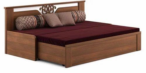 Wooden Sofa Cum Bed लकड क स फ पल ग व डन